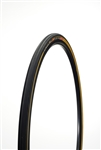 Challenge - ELITE PRO - Road Handmade Clincher - 25mm - Black/Tan - 260tpi SuperPoly - PPS (anti-puncture belt) - 240gr - 100-145psi