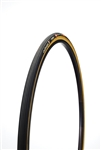 Challenge - STRADA PRO - Road Handmade Tubular - 25mm - Black/Tan - 300tpi SuperPoly - PPS (anti-puncture belt) - Latex Tube - 285gr - 90-175psi