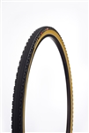 Challenge - CHICANE PRO - CX Handmade Clincher - 33mm - Black/Tan - 300tpi SuperPoly - PPS (anti-puncture belt) - 355gr - 30-90psi