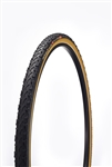 Challenge - BABY LIMUS - CX Handmade Clincher - 33mm - Black/Tan - 300tpi SuperPoly - PPS (anti-puncture belt) - 345gr - 30-90psi