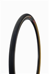 Challenge - STRADA BIANCA PRO - Gravel Handmade Clincher - 36mm - Black/Tan - 260tpi SuperPoly - PPS2 (2 layer anti-puncture belt) - 375gr - 90-130psi