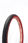 "Challenge - MTB One 650b MTB Tubular - Team Edition - 2.2"" - Blk/Red - 300tpi - 650gr - 30-90psi"